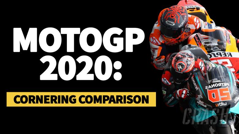 MotoGP 2020: Cornering comparison