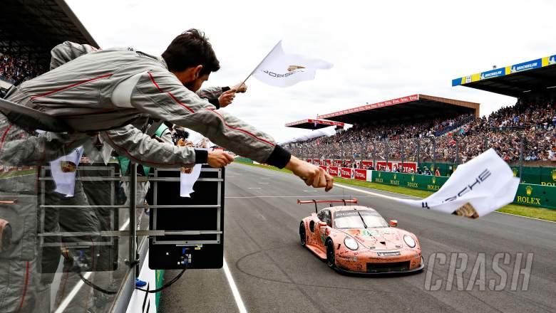 Le Mans: Porsche celebrates 'pink pig' Le Mans victory