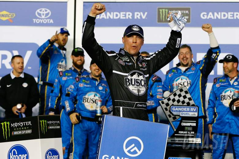 Kevin Harvick, driver of the #4 Busch Beer Car2Can Ford