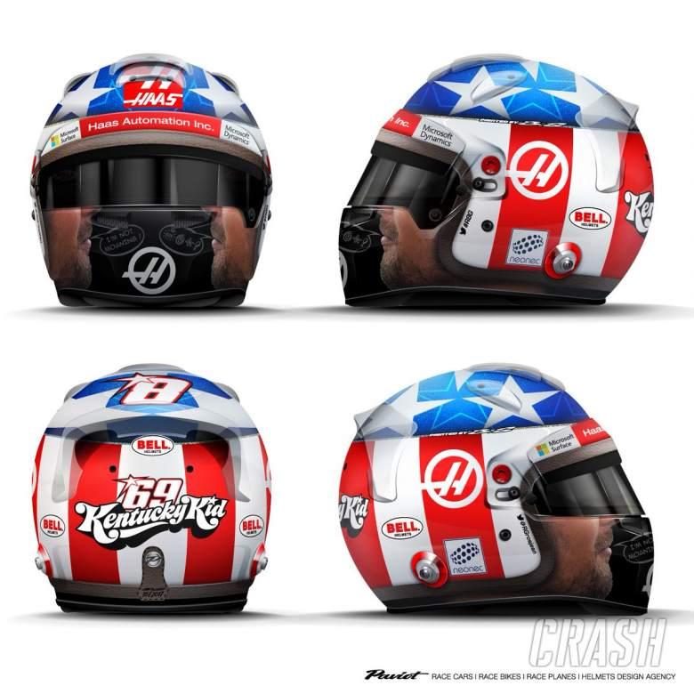 F1: Grosjean reveals Hayden tribute helmet for United States GP | News