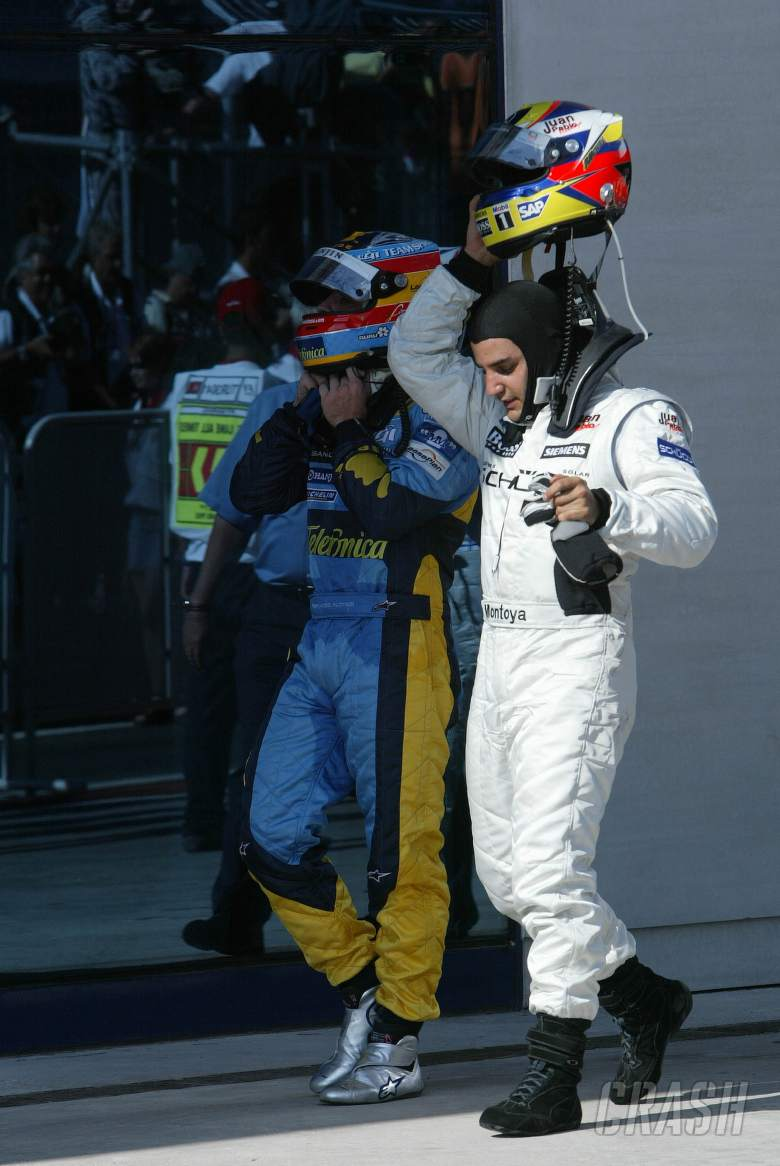 Fernando Alonso and Juan Pablo Montoya