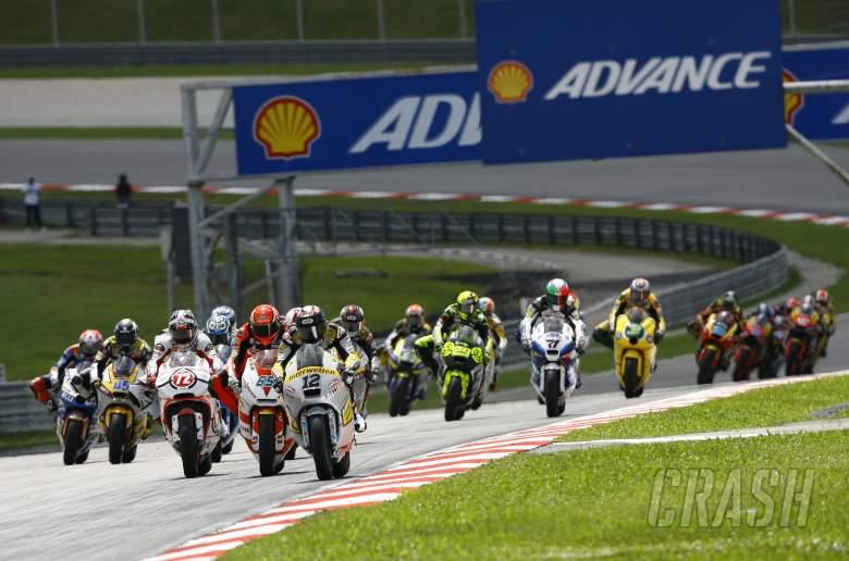 Luthi and Bradl, Moto2 race, Malaysian MotoGP 2011