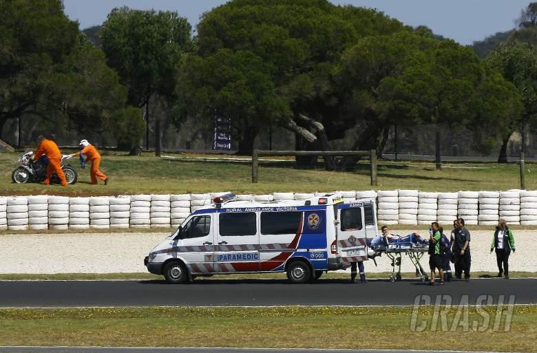 Haslam injured, Australian WSBK tests and race, February 2012
