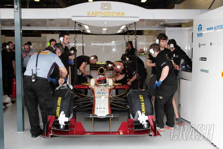 , - Narain Karthikeyan (IND) HRT F1 Team