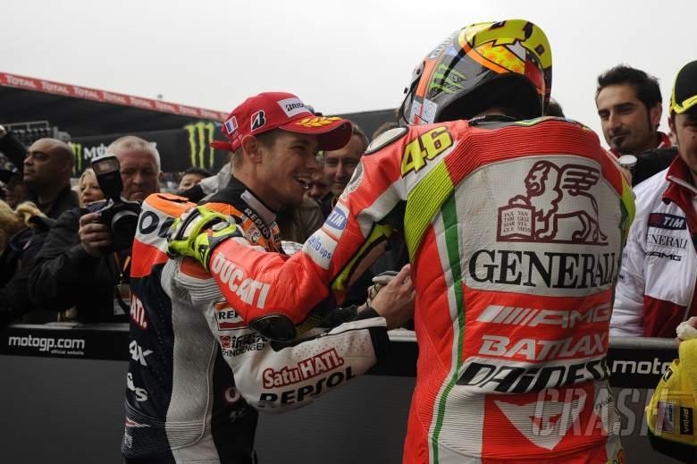 Stoner, Rossi, French MotoGP Race 2012