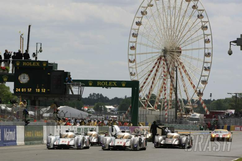 Andre Lotterer/Marcel Fassler/Benoit Treluyer Audi Sport Team Joest Audi R18 E-Tron Quattro wins the