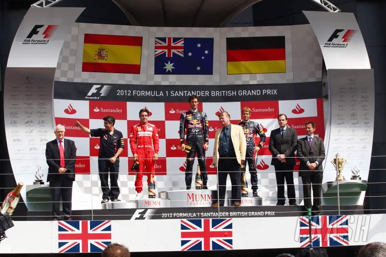 08.07.2012- Race, 1st position Mark Webber (AUS) Red Bull Racing RB8, 2nd position Fernando Alonso (