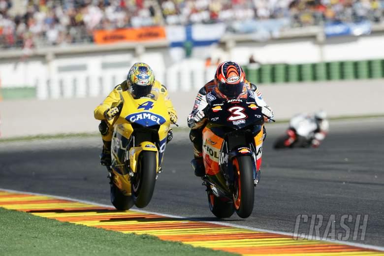 Biaggi, Barros, Valencia MotoGP Race, 2005