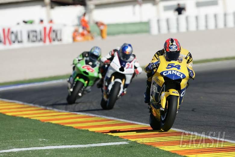 Kiyonari, Hopkins, Hofmann, Valencia MotoGP Race, 2005