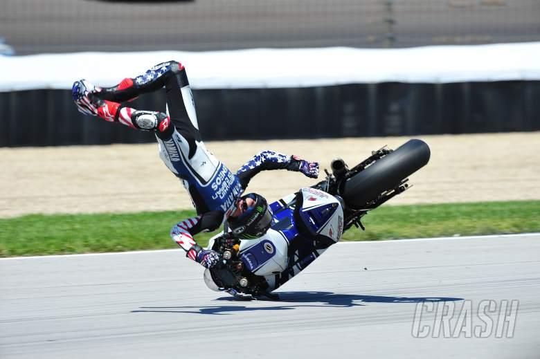 Spies crash, Indianapolis MotoGP, 2012
