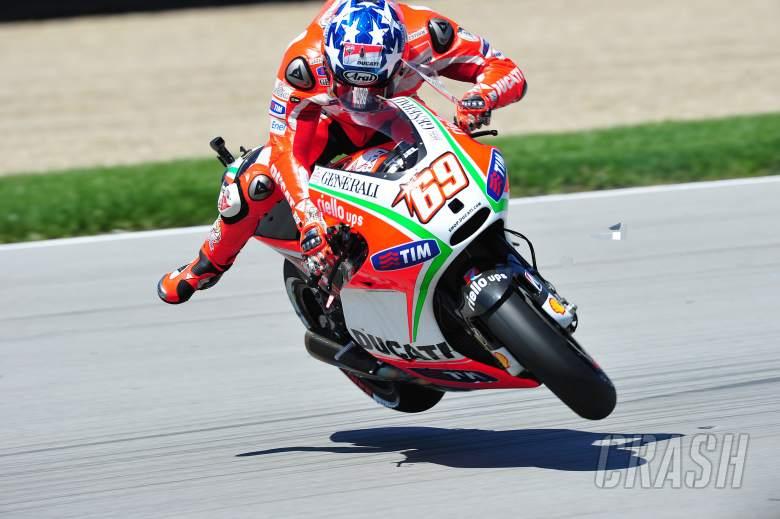 Hayden crash, Indianapolis MotoGP, 2012