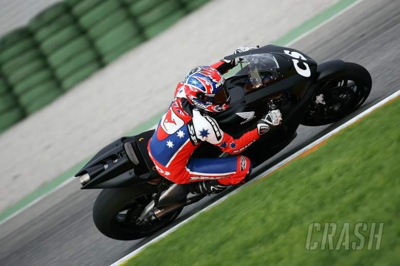 Stoner makes Honda debut, Valencia MotoGP tests, November 2005