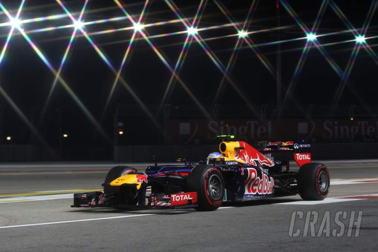 21.09.2012 - Free practice 2, Mark Webber (AUS) Red Bull Racing RB8
