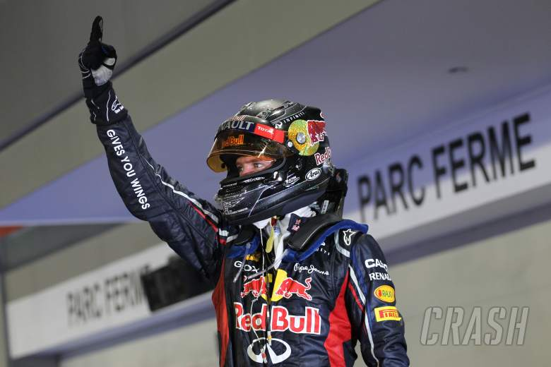 23.09.2012 - Race, Sebastian Vettel (GER) Red Bull Racing RB8