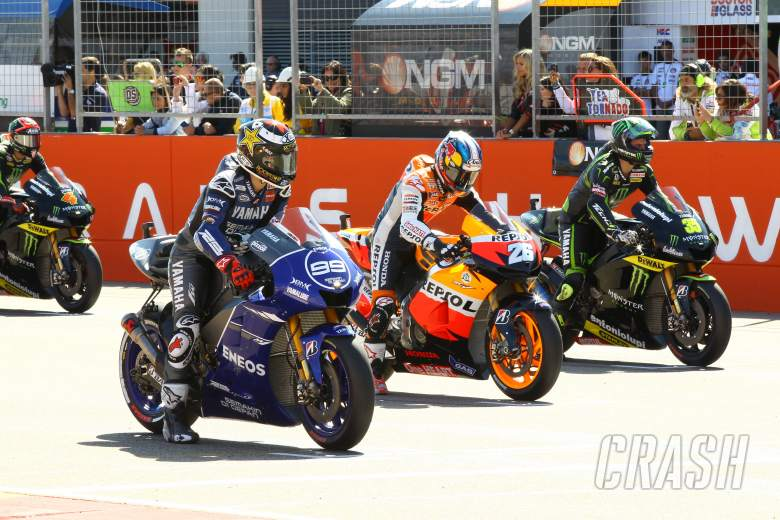 , - Lorenzo, Pedrosa, Crutchlow, Aragon MotoGP 2012