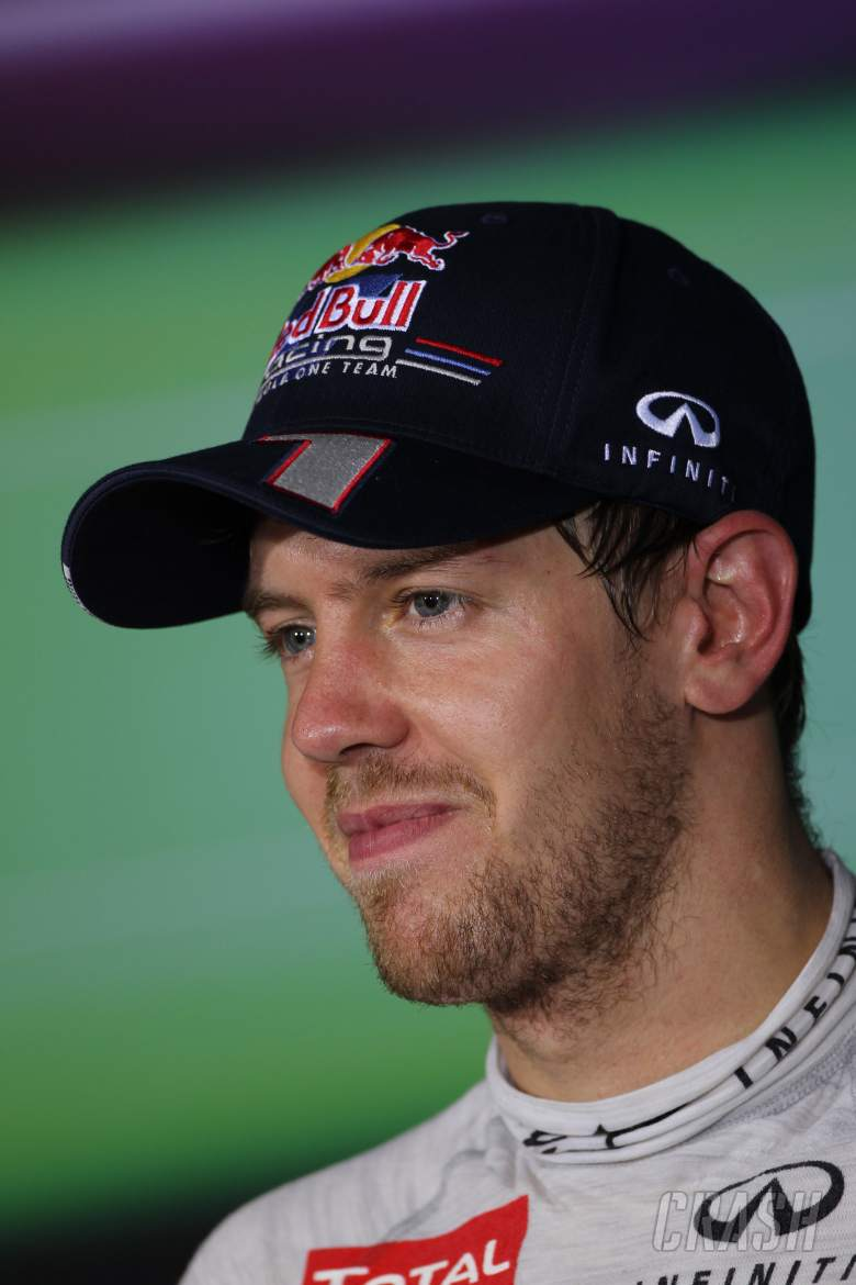 Press conference: Sebastian Vettel (GER) Red Bull Racing RB8 (3rd position)