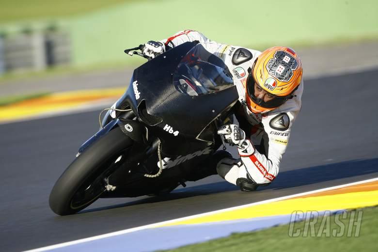 Gino Rea, Moto2 test,12th November 2012 Valencia