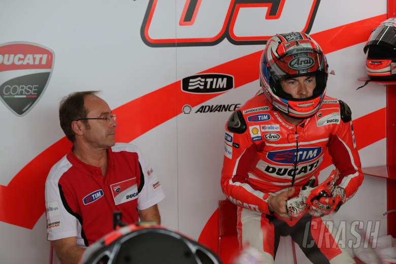 Ducati's Bernhard Gobmeier and Hayden, Sepang 2 tests, February 2013