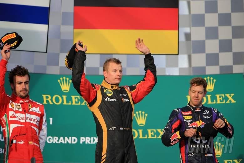 17.03.2013- Race, Kimi Raikkonen (FIN) Lotus F1 Team E21 race winner, 2nd position Fernando Alonso (