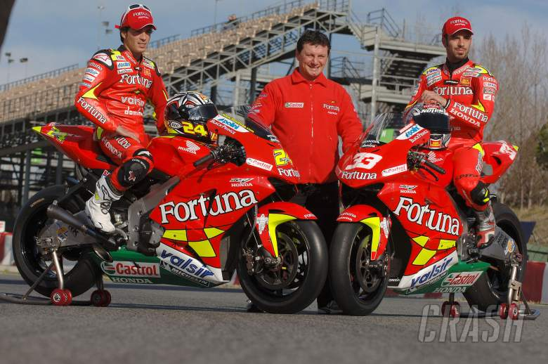, - Elias, Gresini and Melandri, Barcelona IRTA MotoGP Test 2006