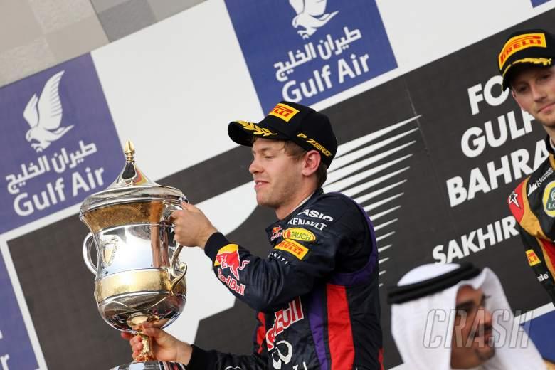 21.04.2013- Race, Sebastian Vettel (GER) Red Bull Racing RB9 race winner