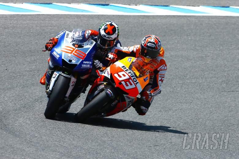 Lorenzo and Marquez touch, Spanish MotoGP 2013