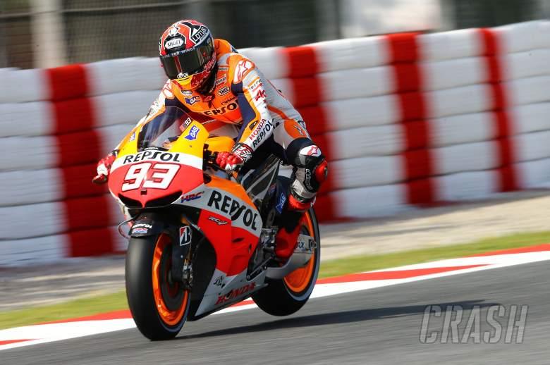 Marquez braking, Catalunya MotoGP 2013