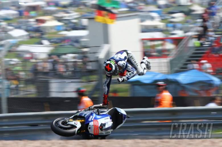 , - Lorenzo crash, German MotoGP 2013