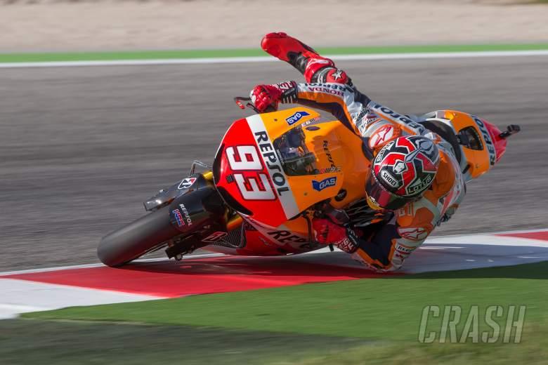 Marquez almost crashing, San Marino MotoGP 2013