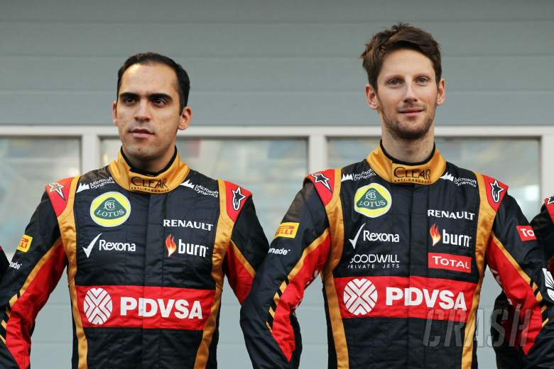 (L to R): Pastor Maldonado (VEN) Lotus F1 Team and team mate Romain Grosjean (FRA) Lotus F1 Team as