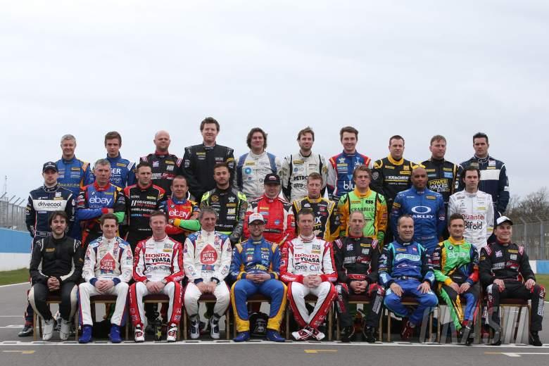 , - BTCC Drivers class photo for 2014