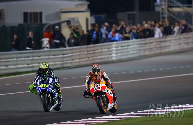Rossi and Marquez, Qatar MotoGP 2014