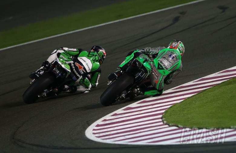 Redding and Hayden, Qatar MotoGP 2014
