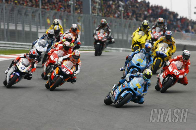 Start, Vermeulen leads, Turkish MotoGP Race, 2006