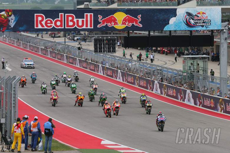 Lorenzo Jumps start, grid, MotoGP race, Grand Prix of the Americas, 2014.