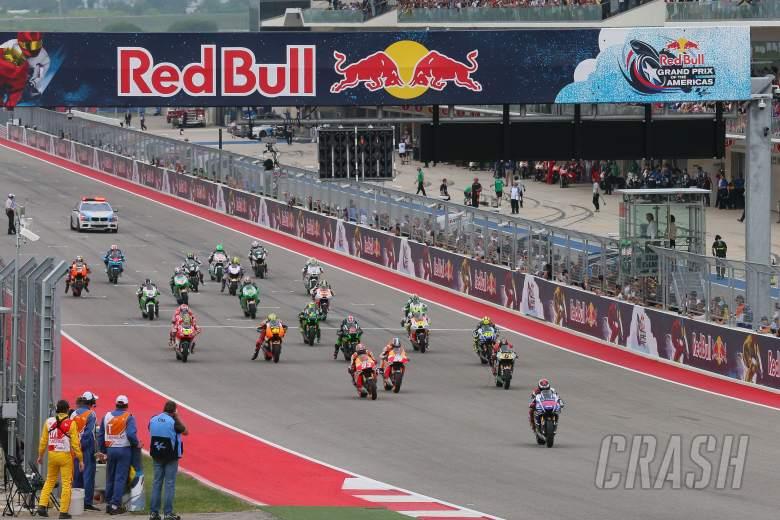 Lorenzo Jumps start, grid, MotoGP race, Grand Prix of the Americas, 2014.