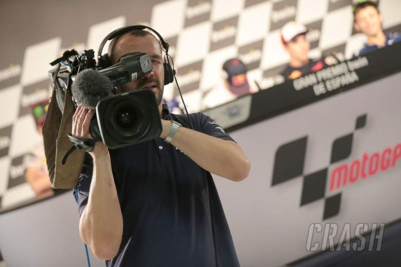 TV Camera in press conference, Spanish MotoGP 2014
