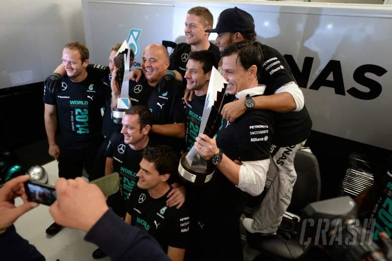 Hamilton 'speechless' amid Mercedes F1 celebrations