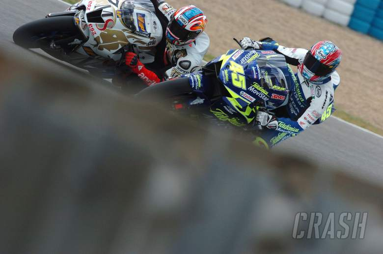 Byrne and Edwards, Spanish MotoGP, 2004