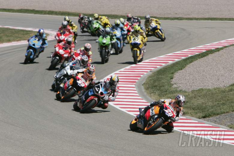 Pedrosa leads at start, German MotoGP Race 2006