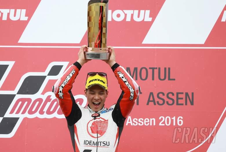 Moto2: Nakagami takes first win as rain arrives