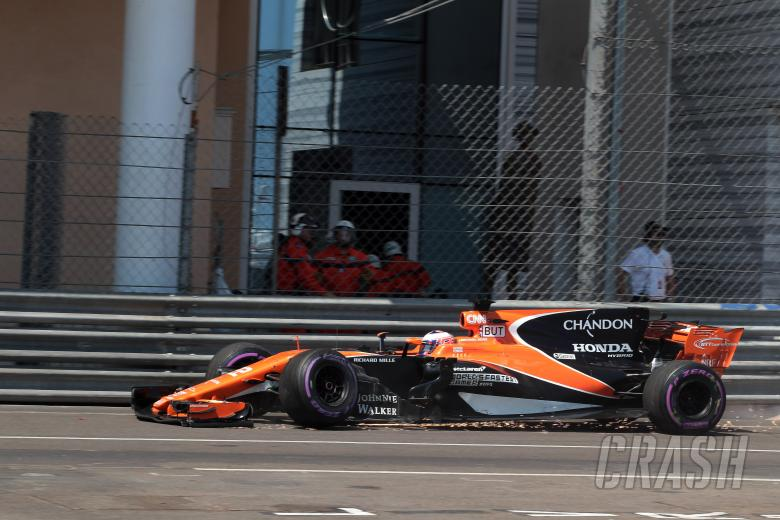 f1 monaco gp: button sorry for car damage, happy with memories of f1