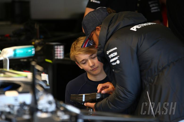 F1: 14.07.2017 - Billy Monger (GBR) and Lewis Hamilton (GBR) Mercedes AMG F1 W08