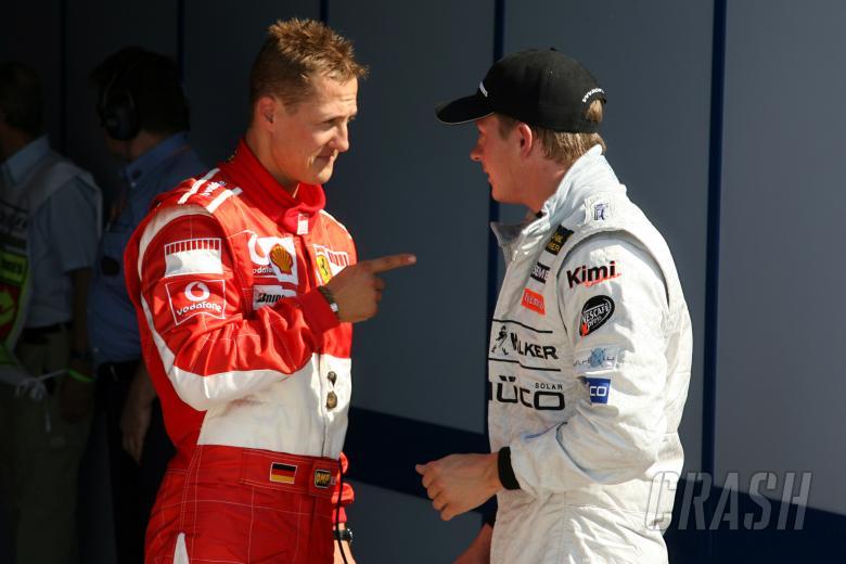 , - 09.09.2006 Monza, Italy, Michael Schumacher (GER), Scuderia Ferrari and Kimi Raikkonen (FIN), Räikk