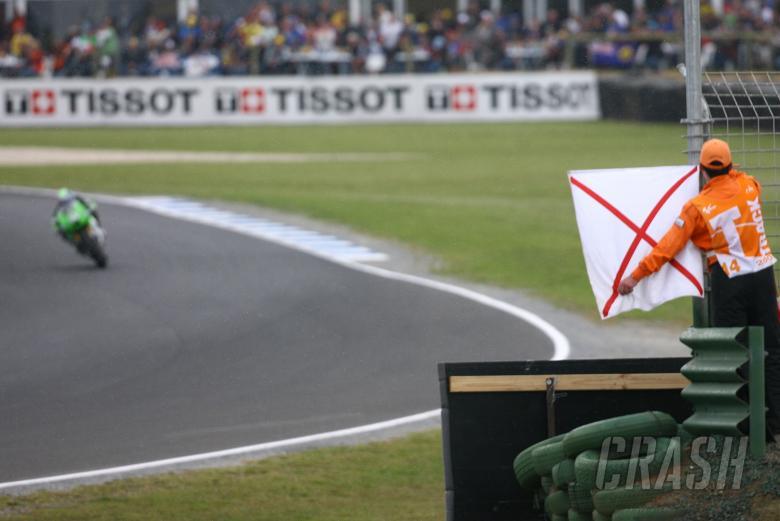 Rain flag for Nakano, Australian MotoGP, 2006