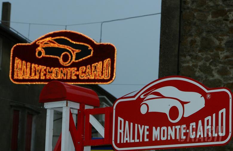 Scene, Rallye Monte Carlo sign. Rallye Automobile Monte-Carlo, 18-20 January 2007