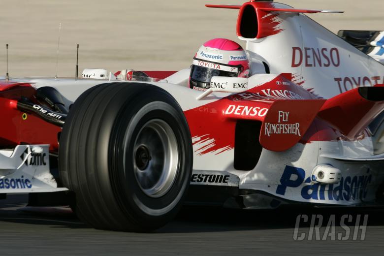 Frank Montagny, Toyota, Barcelona F1 Test, 13/2/07