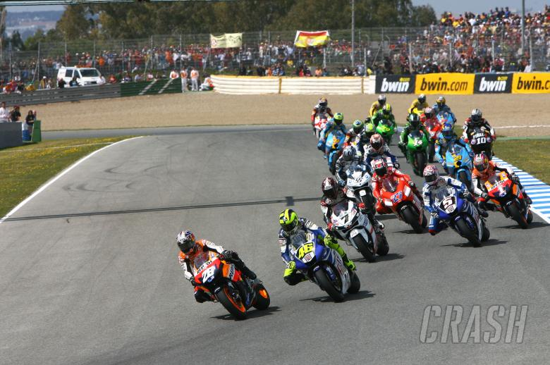 , - Pedrosa and Rossi, strat, Spanish MotoGP, 2007