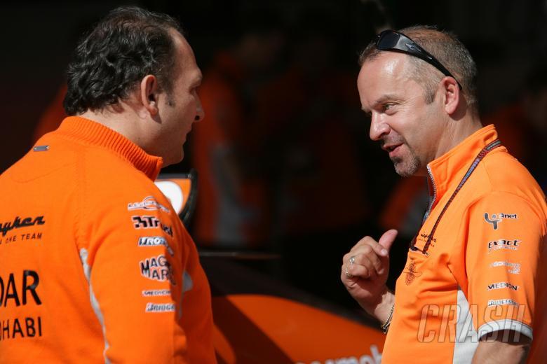 Colin Kolles, Team Principal & Managing Director Etihad Aldar Spyker Formula One Team, Mike Gascoyne