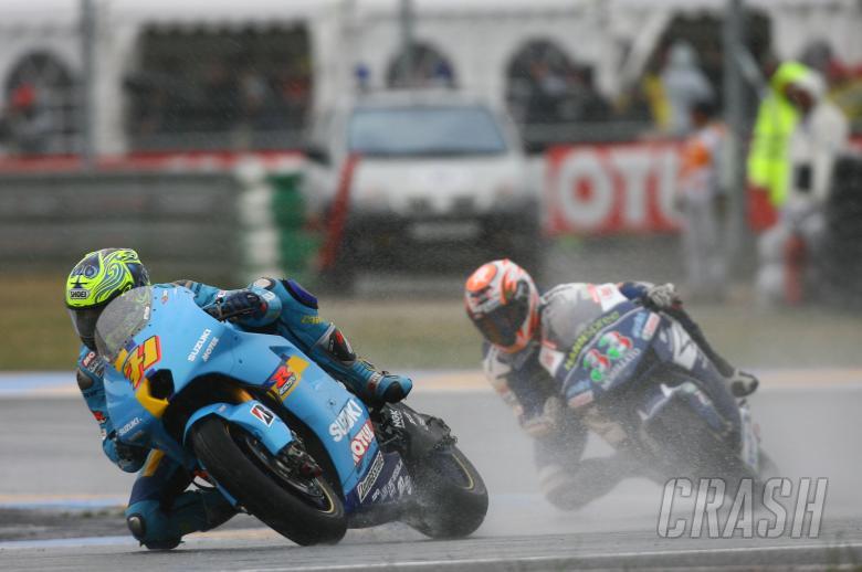 Vermeulen,Melandri, French MotoGP 2007